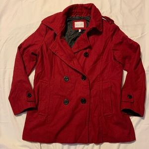 Red Delias wool peacoat size 2XL
